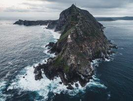 Cape Point, der neue Leuchtturm wurde 1914 erbaut.